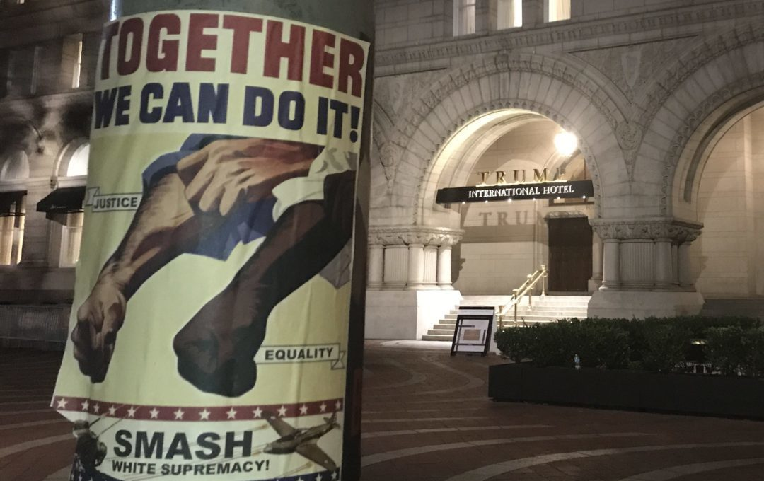 Poster - together we can stop white supremacy